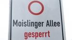 Moislinger Allee gesperrt