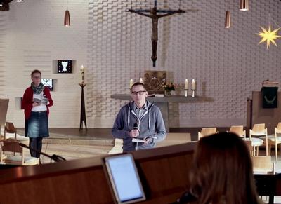 Aufzeichnung eines Online-Gottesdienstes