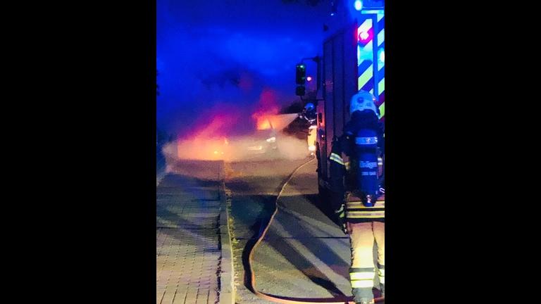 Fahrzeugbrand Am Wasserwek