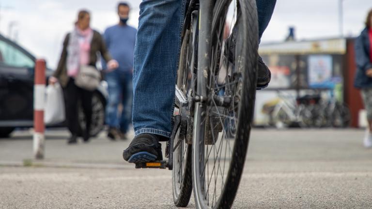 Radfahrer auf dem Fahrrad