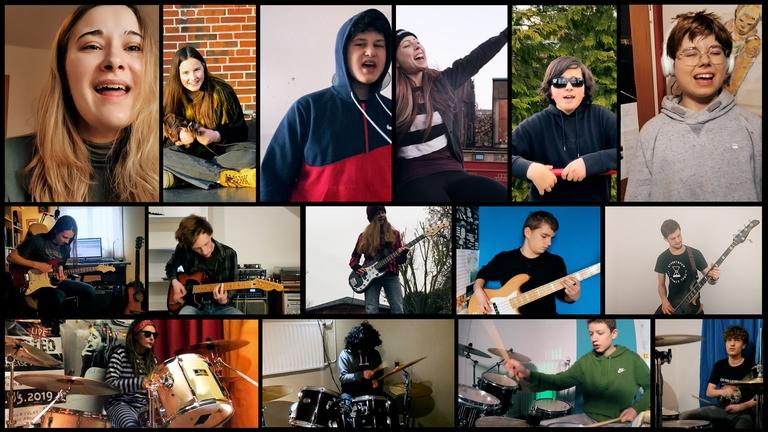 Videozusammenschnitte der RockPop-Schule Lübeck