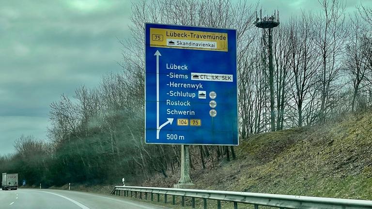 Autobahn A225 nach Travemünde
