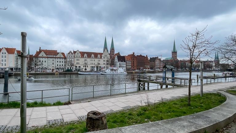 Lübeck Ansicht von der MuK aus