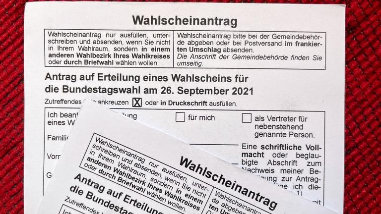 Wahlscheinantrag Wahlbenachrichtigung