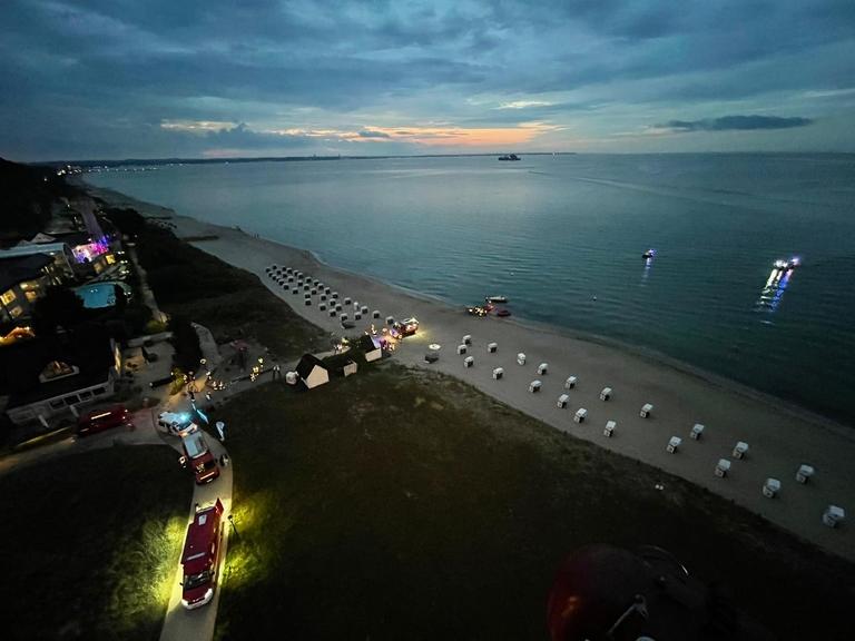 Suche nach Paraglider in der Ostsee